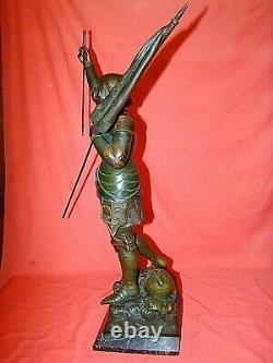 Statuette Of Jeanne D'arc In Regulation By Ruffony Era Late Xixth