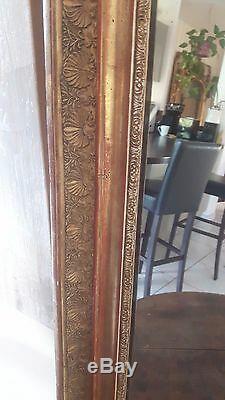 Super Mirror Wooden Gold Stucco Decor Palmette Time XIX S