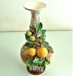 Superb Large Ceramic Vase, Slip, Late Nineteenth Time. High. 33 CM