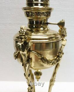 Superb Little Lamp To Petrolee Era Anthropomorphic Empire Bronze Brass Xixth