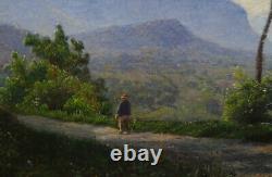 Svensen Lovely Landscape Table Mountain Hst Vintage Nineteenth Century