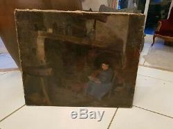 Table Former, Interior Scene, Time XIX S Signed To Decipher, Hst