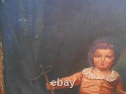 Table Hst Enfant With His Period Jouets At The End Of The 19th Century
