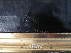 Table Oil On Canvas Signed Dillon Henri Xixth Century