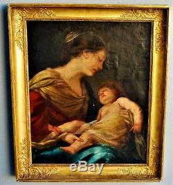 Table Virgin And Child, Xixth