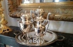 Tea / Coffee Service Empire Malmaison XIX Silver Metal Napoleon III