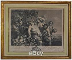 The Walk Of Silène Engraving Old Nineteenth Time
