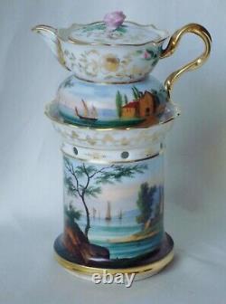 Tisaniere En Porcelain De Paris XIX Epoque Napoleon III