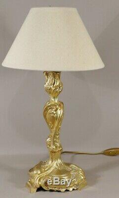 Torch Light Gilt Bronze Louis XV Style, Nineteenth Time