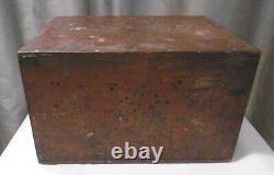 Travel Cabinet Epoque Xixeme Portuguese Indo Wood Nomad Polychrome