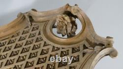 Tray, Woodwork In Noyer Sculpted Monoxyle, Era Xixth