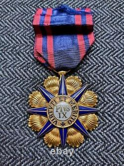 Vatican Order Of Pius IX Jewel Of Knight In Gold And Enamel 19th Century - Case