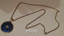 Vermeil Enamel Pendant Set Bressan - Chain Era Late 19th/poincons
