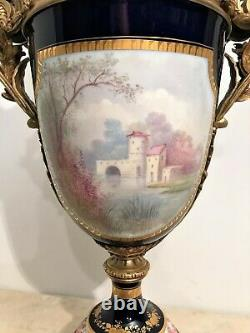 Very Large Vase In Porcelain Of Sèvres And Golden Bronze Era Xixth Century