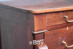 Walnut Butt Dresser Restoration Period Late Nineteenth
