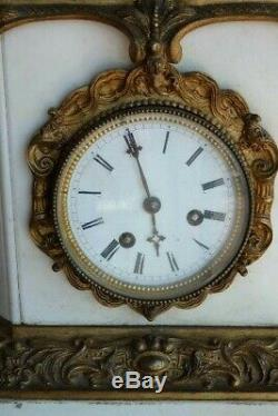White Marble And Bronze Clock, Time XIX