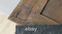 Width 62cm! Petite Console Empire In Noyer And Bronze, Era Xixth