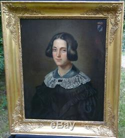 Woman Portrait Baroness Vintage Louis Philippe Hst Nineteenth Century Arms