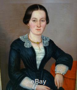 Woman Portrait Bismarck German School Epoque Nineteenth Century Hst
