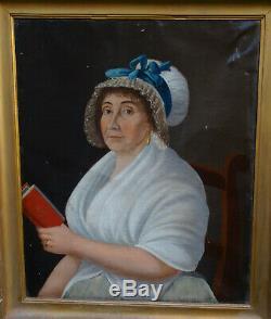 Woman Portrait Epoque First Empire Nineteenth Century French School Hst