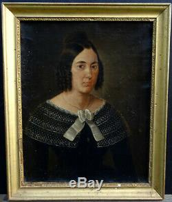 Woman Portrait Epoque Louis Philippe French School Of The Nineteenth Century Hst