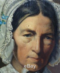 Woman Portrait Epoque Louis Philippe French School Xixth Century Hst