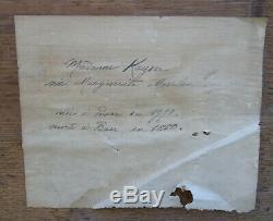 Woman Portrait Mrs. Kayser Epoque First Empire Nineteenth Century Hsp Alsace