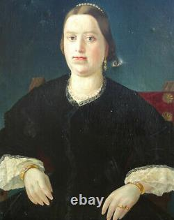 Woman Portrait Restoration Hst Epoque Early Nineteenth Century