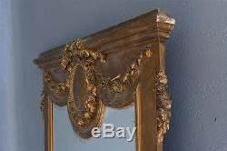 Wooden Mirror And Gilded Stucco Xixth Louis XVI Style