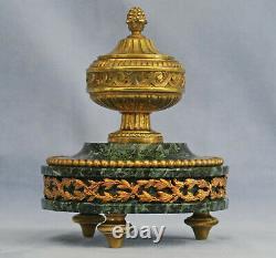 Writer In Golden Bronze And Green Marble Of The Sea Epoch Napoleon III Xixth Century