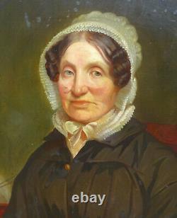 A Piot Portrait de femme d'Epoque Louis XVIII Ecole Française du XIXème HST