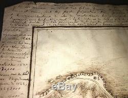Alger. Émouvant Plan Manuscrit Fait À L'époque De La Conquête. 1830