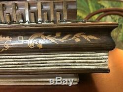 Ancien ACCORDEON ROMANTIQUE marqueté XIXème époque Charles X old accordion