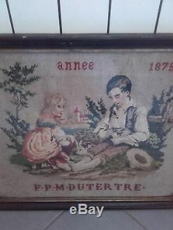 Ancien Abecedaire Broderie Epoque Fin XIX Eme Siecle Art Populaire 1875