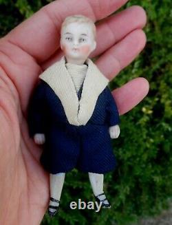 Ancien BB miniature biscuit H 9.5 cm d' époque fin XIXème état d'origine