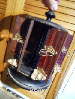 Ancien Carrousel à cigares ancienne Cave Cigare epoque Napoléon III XIXème 19e