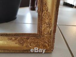 Ancien cadre en bois doré époque Empire dorure, cadre XIX ème s