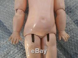 Ancien corps poupée taille 7/8 époque fin XIXème en état grenier