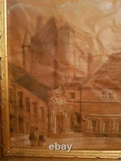 Ancien dessin sur papier calque, époque XIX ème s