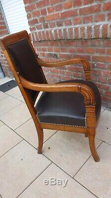 Ancien fauteuil Empire. Epoque Empire Restauration. Début XIXème. Antique armchair