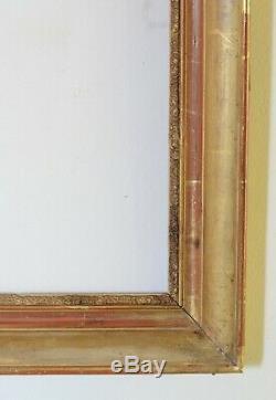 Ancien grand cadre d'époque restauration doré à la feuille XIX ème. Figure 12