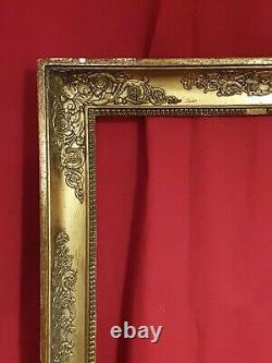 Ancien grand cadre doré époque Empire XIX ème s
