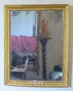 Ancien miroir d'époque restauration doré à la feuille XIX ème. Mirror specchio