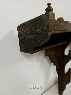 Ancien porte fusils en bois peint, époque fin XVIII ème début XIX ème