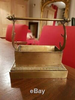 Ancien porte plume en bronze doré époque Empire XIX ème s