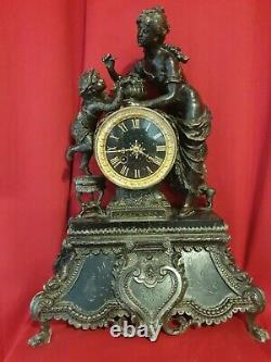 Ancienne Horloge en régule époque fin XIX ème s
