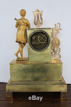 Ancienne et belle pendule en bronze doré Epoque XIXeme