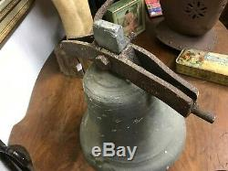 Ancienne grosse cloche de propriété ou de cour époque XIX ème siècle 30 cm diam