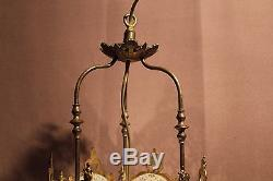 Ancienne lanterne à gaz en laiton époque XIXème siècle