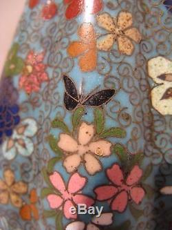Ancienne paire de vases cloisonnés et côtelés époque XIX ème siècle